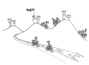 colline e castelli in bici