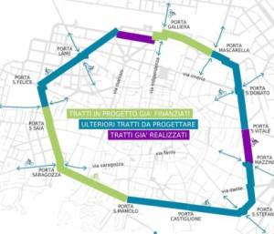 il progetto di tangenziale delle biciclette di Bologna