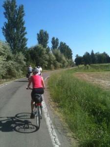 il percorso in bici