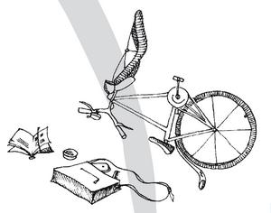 incidente con bicicletta