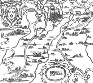 antica mappa tra il secchia ed il panaro