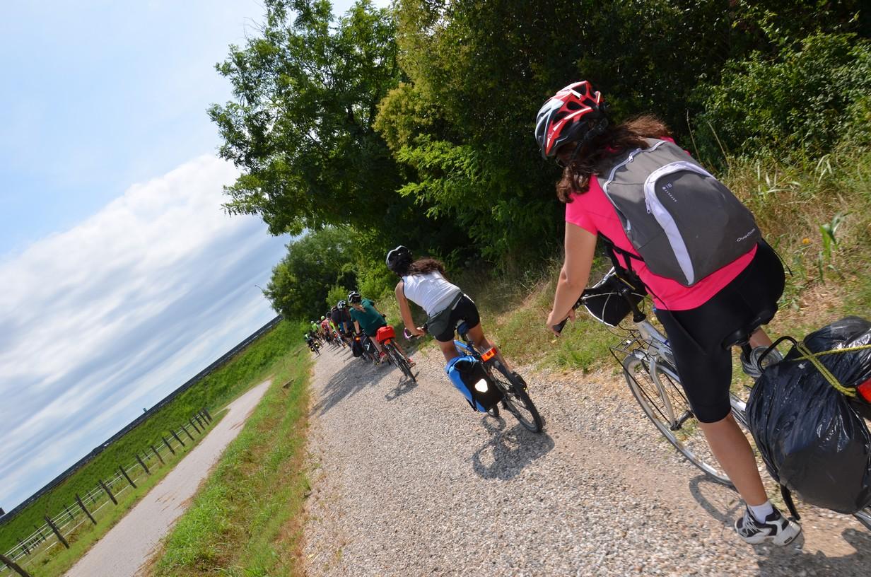 verso cervignano sulla ciclovia Alpe Adria