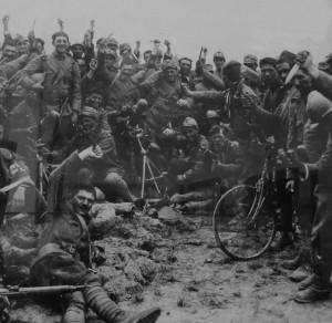 soldati in bici