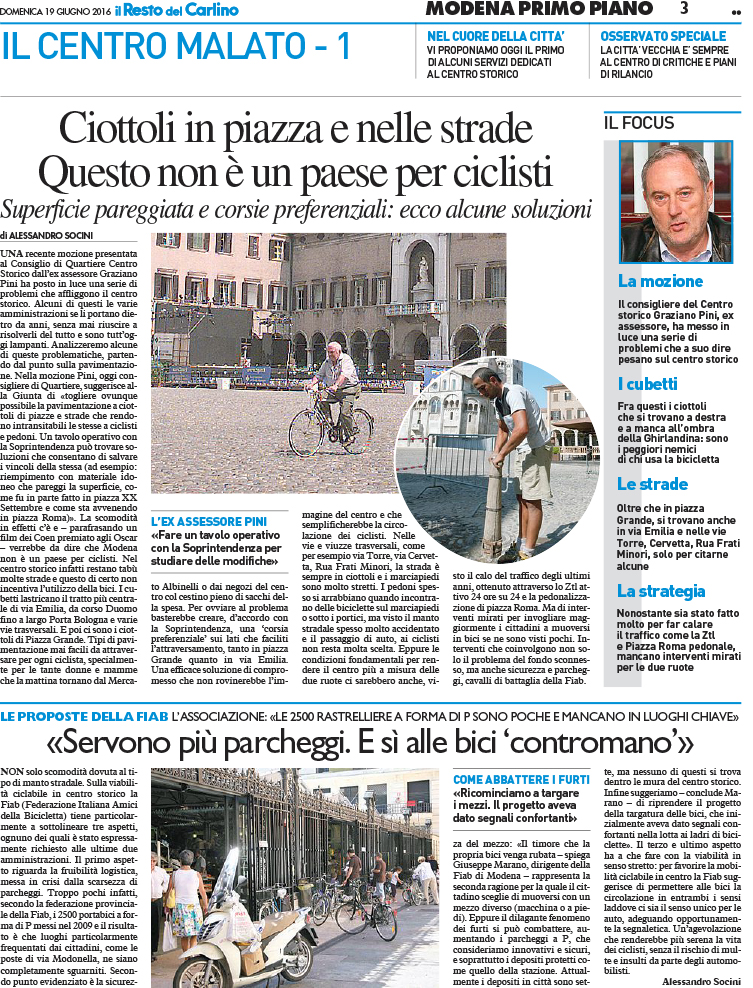 """Articolo sul """"Resto del Carlino"""""""
